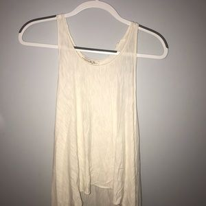 Cream long tank top